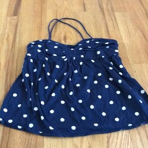 j crew polka dot tank top